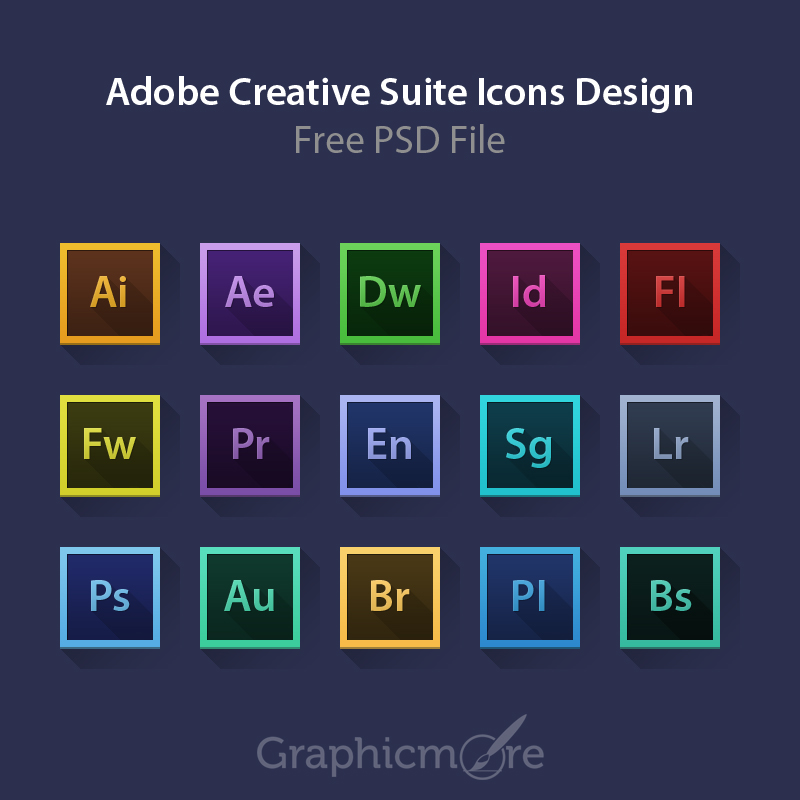 800x800 Adobe Creative Suite Icons Design Free Psd File Download