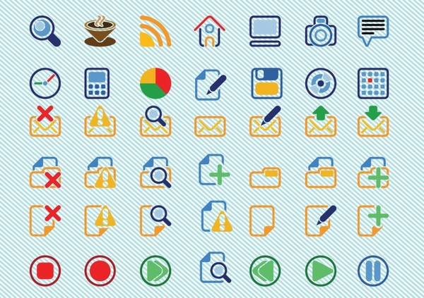600x423 Basic Icons Vectors Free Vector In Adobe Illustrator Ai Vector