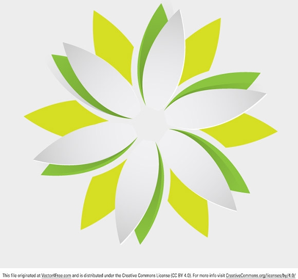 580x544 Origami Flower Vector Free Download Origami Flower Free Vector In