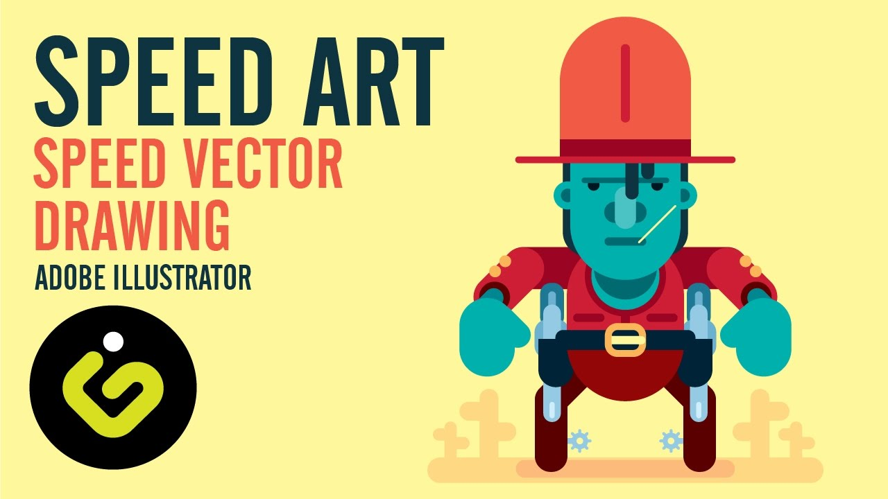 1280x720 Vector Art In Adobe Illustrator, Speed Drawing Tutorial
