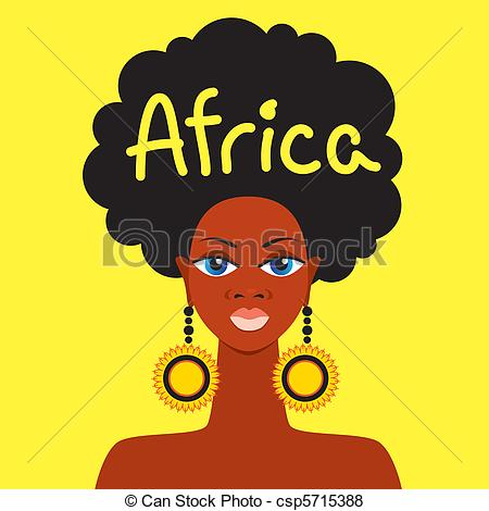450x470 Africa . African Mother Face On A Yellow Background.