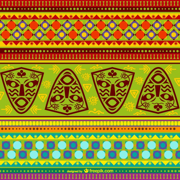 626x626 Colorful African Pattern Vector Free Download