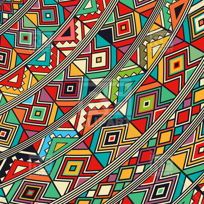 400x400 Decorative African Abstract Tribal Pattern Vector Image Vector