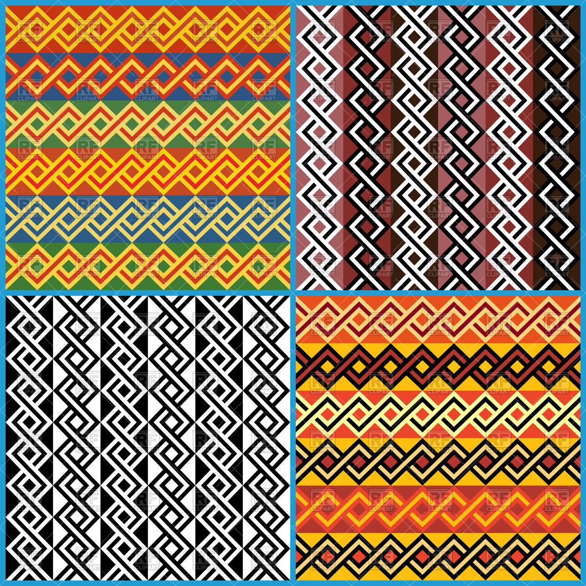 1200x1200 Seamless African Ethnic Patterns Vector Image Vector Artwork Of