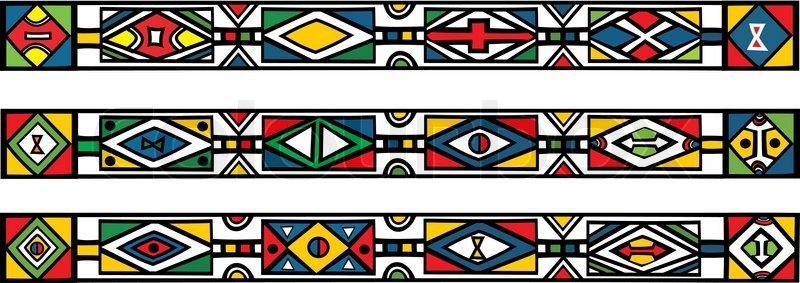 800x283 Set Of Traditional African Ndebele Patterns