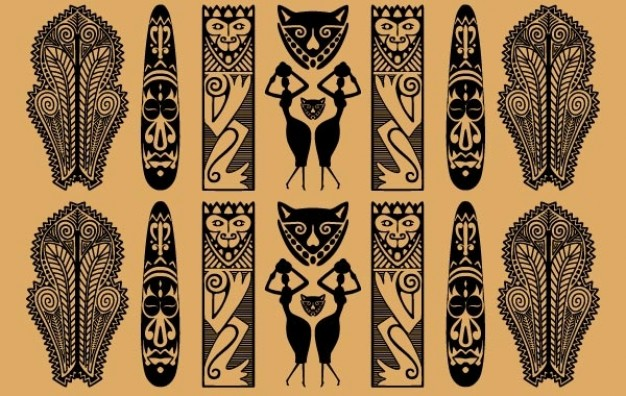 626x396 Traditional African Pattern Vector Free Download