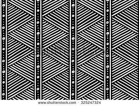 450x345 Tribal Ethnic Seamless African Pattern. Vector Illustration