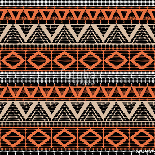 500x500 Tribal Pattern Vector Seamless. African Print With In Ethnic