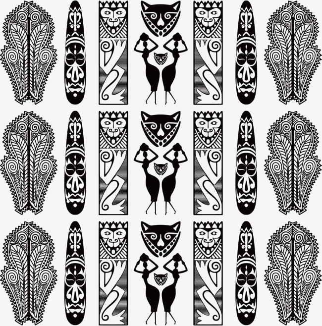 650x658 Vector African National Pattern Totem, Pattern Vector, Vector