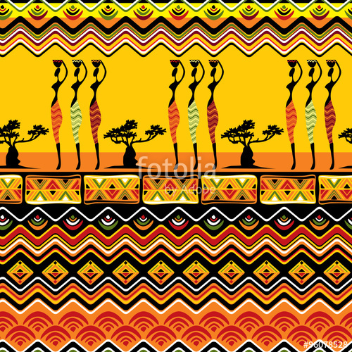 500x500 African Pattern Seamless Stock Image And Royalty Free Vector