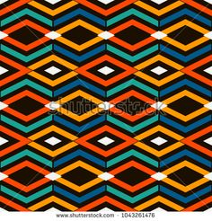 236x246 African Style Seamless Surface Pattern With Abstract Figures