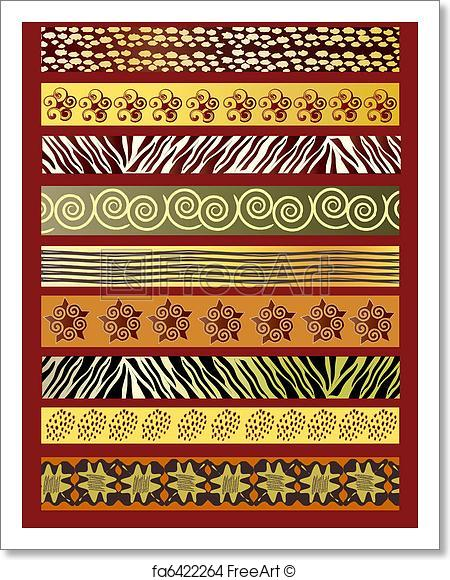 450x580 Free Art Print Of African Fabric. A Vector Illustration Of African