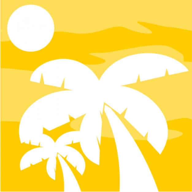 626x626 African Tree Silhouette On Yellow Background Vector Free Download