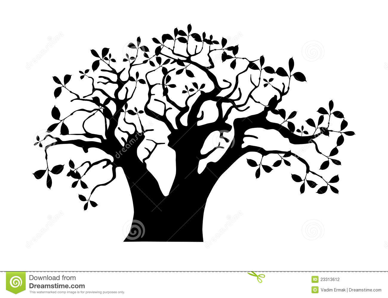 1300x1000 Branch Clipart African Tree