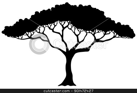 450x305 Tropical Tree Silhouette Stock Vector