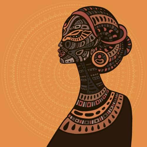 500x500 African Woman Design Vectors 08 Free Download