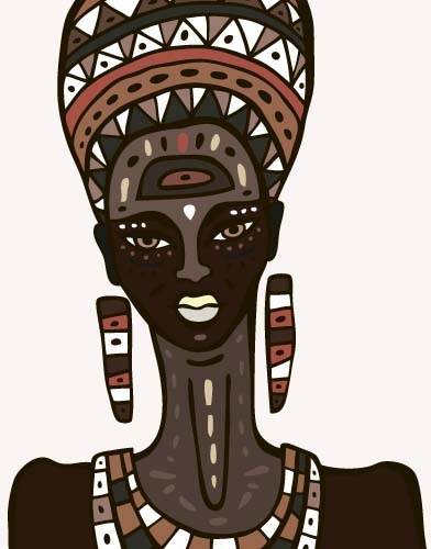 392x500 African Woman Design Vectors Free Vector In Encapsulated