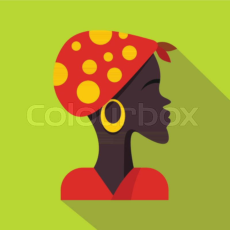 800x800 African Woman Icon. Flat Illustration Of African Woman Vector Icon