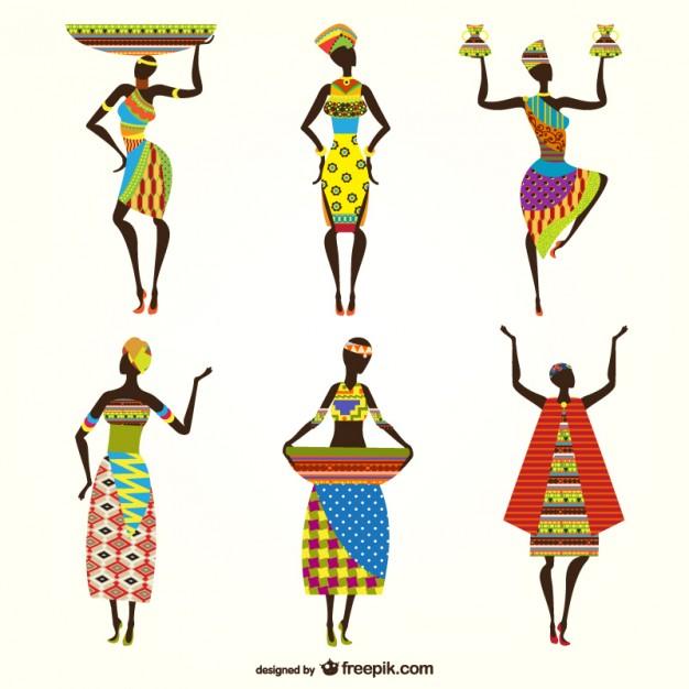 626x626 African Women Vectors Vector Free Download