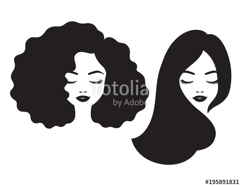 500x387 Beautiful Woman And Black African American Woman Face With Afro