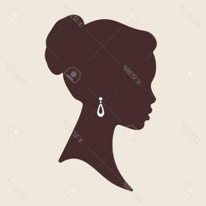 300x300 Photostock Vector Silhouette Of Beautiful Elegant African Woman In