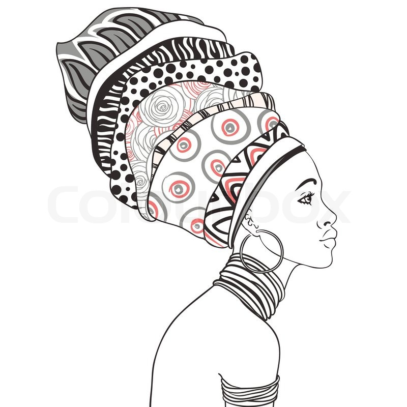 800x800 Portrait Of Beautiful African Woman With Earring (Profile View
