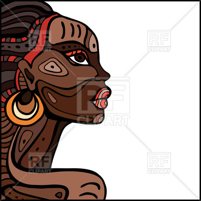 400x400 Profile Of African Woman Vector Image Vector Artwork Of People