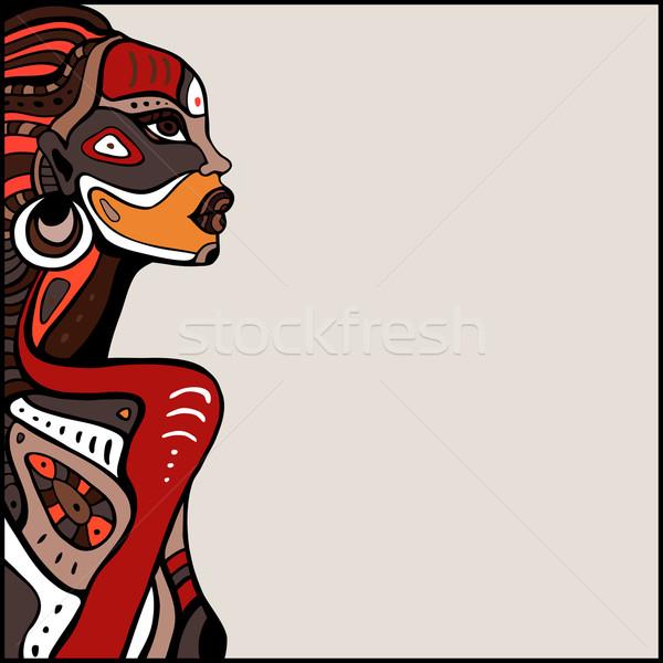 600x600 Profile Of Beautiful African Woman. Vector Illustration Katya