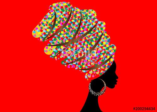 500x357 Portrait Beautiful African Woman In Traditional Turban, Kente Head