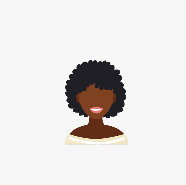 650x646 African Woman With Curly Hair Avatar, Woman Vector, Hair Vector