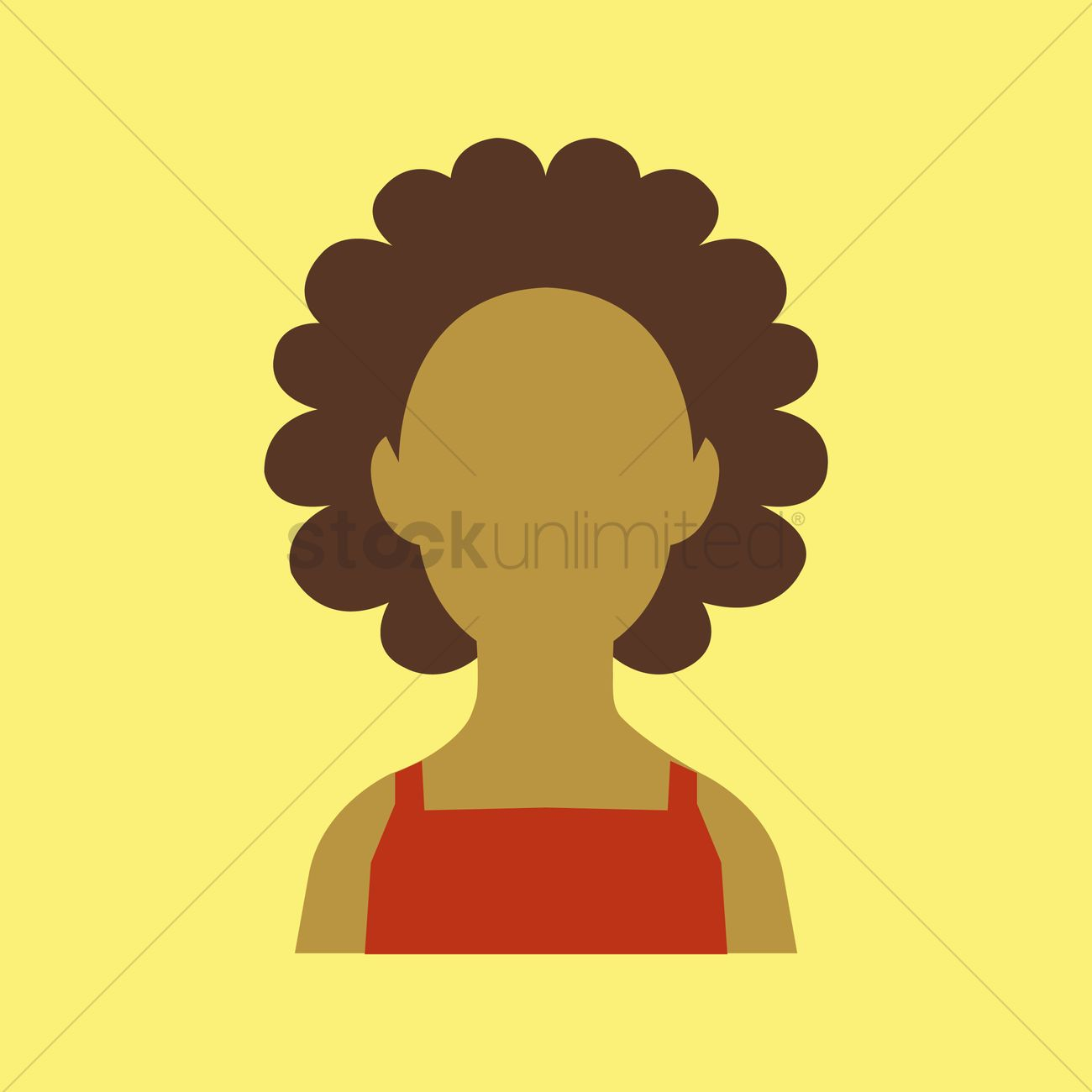 1300x1300 African Woman Vector Image