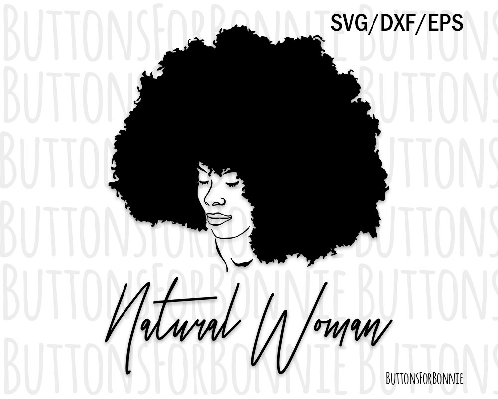 1000x800 Afro Svg Black Lady Svg Natural Hair Svg Curly Hair Svg Etsy