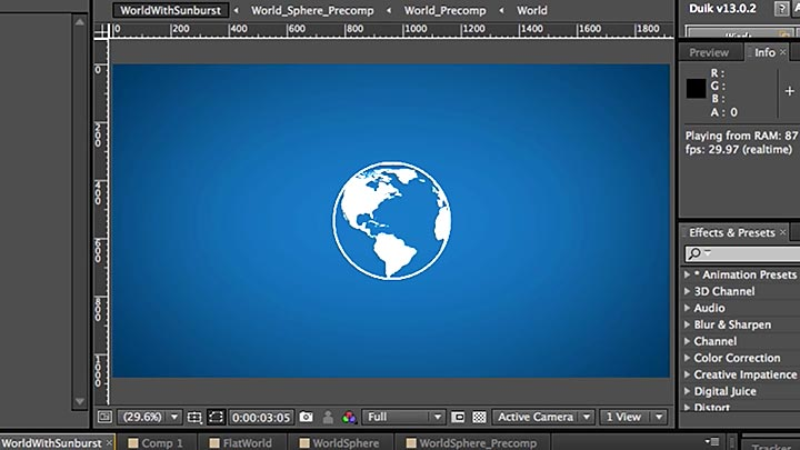 720x405 Creating A Rotating Vector Globe In After Effects Using Aemap