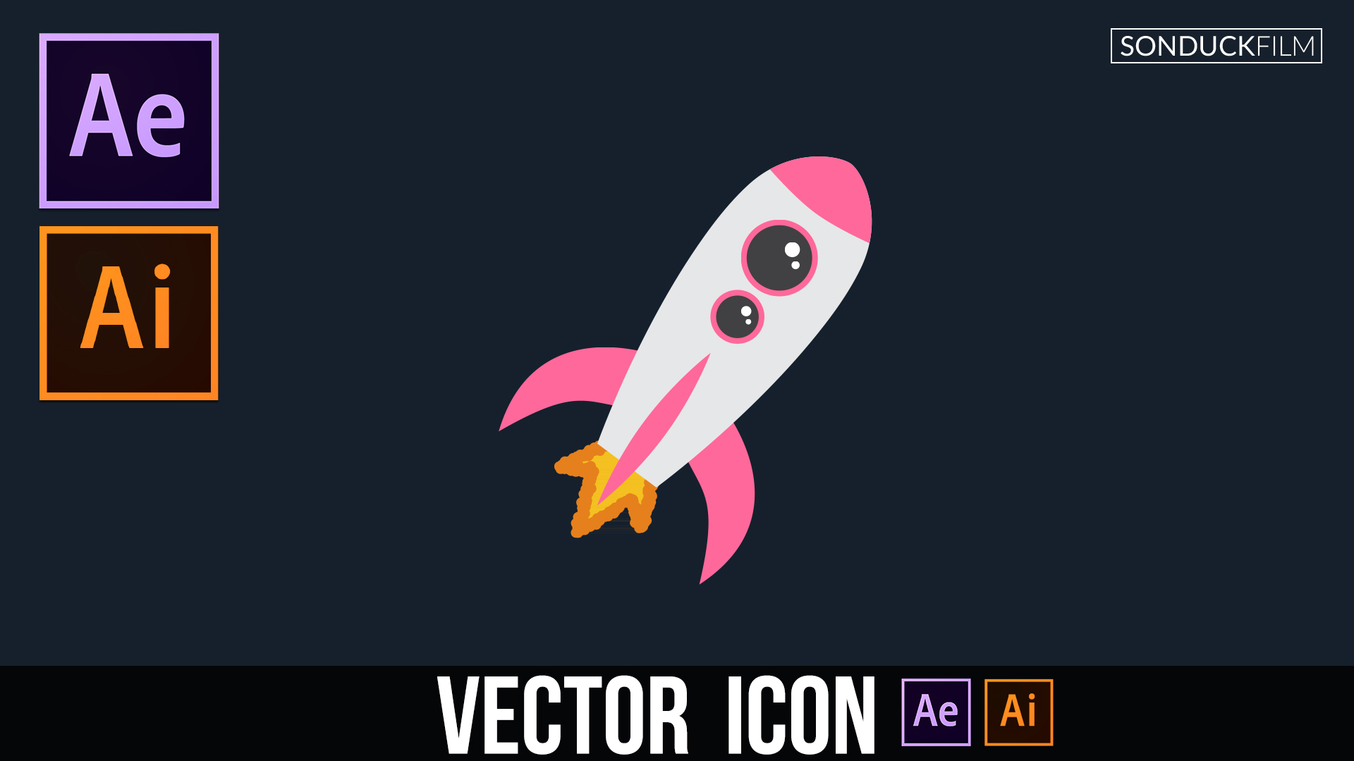 1920x1080 Illustrator To After Effects Vector Icon Animation Design