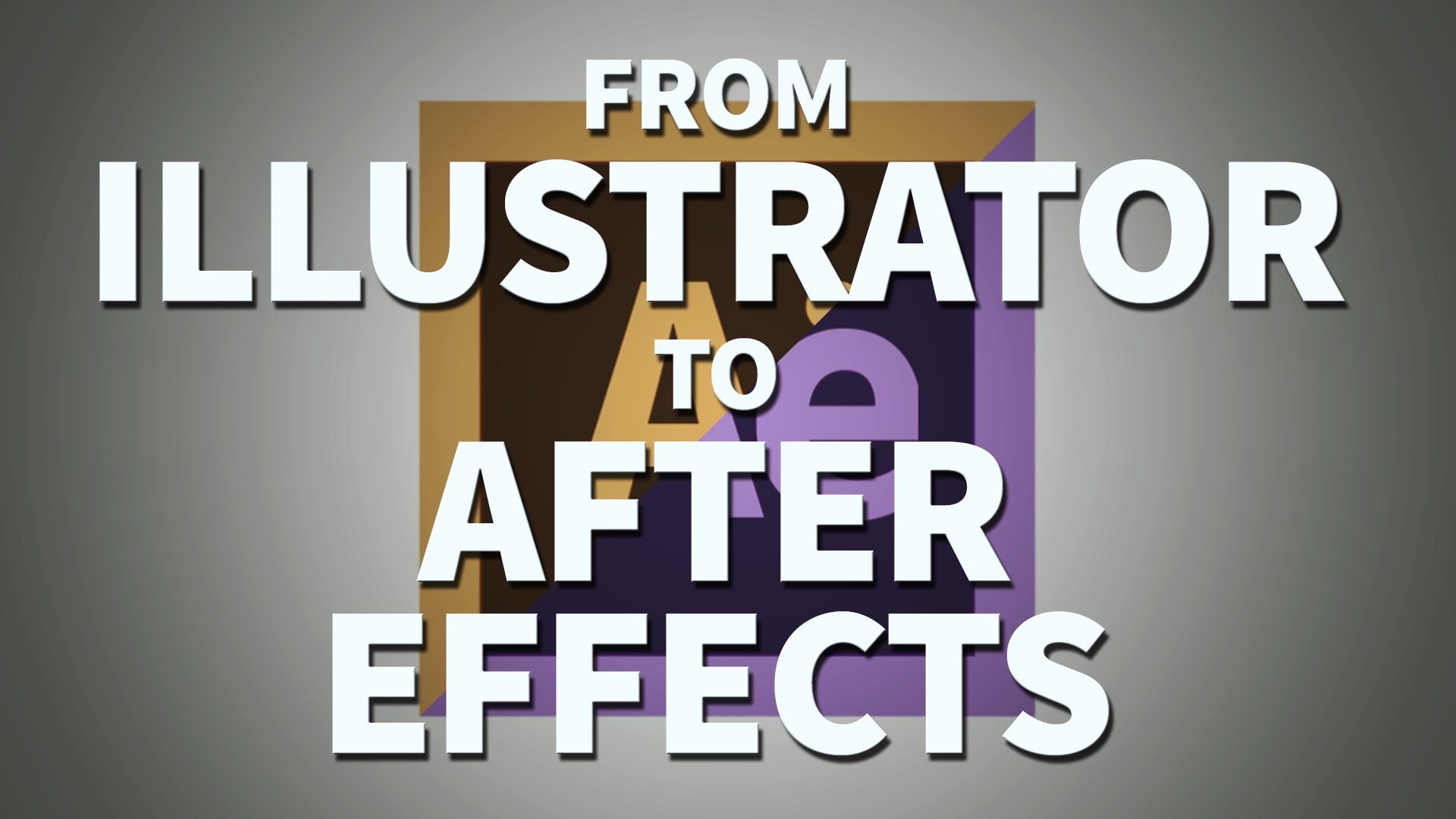 1920x1080 Working From Illustrator To After Effects