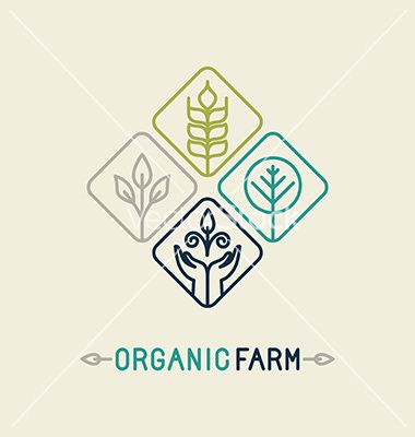 380x400 Agriculture And Organic Farm Line Logo Vector By Venimo On