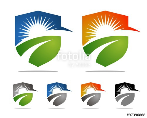 500x400 Colorful Sun Shield Agriculture Logo Stock Image And Royalty Free