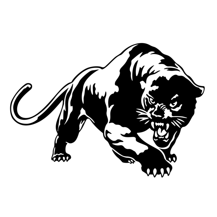 690x690 Puma Cougar Panther Svg, Dxf, Eps, Png, Cdr, By Vectordesign On Zibbet