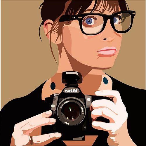 500x500 29 Best Portrait Vector Images Digital Illustration