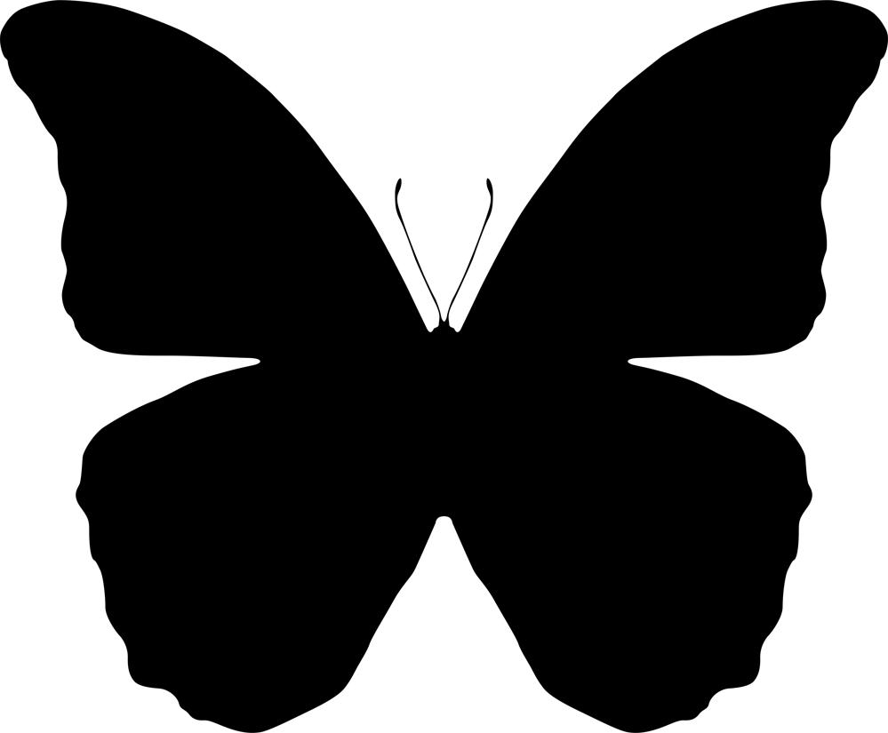 999x825 Butterfly Silhouette Vector Art Illustration (.ai) Vector File