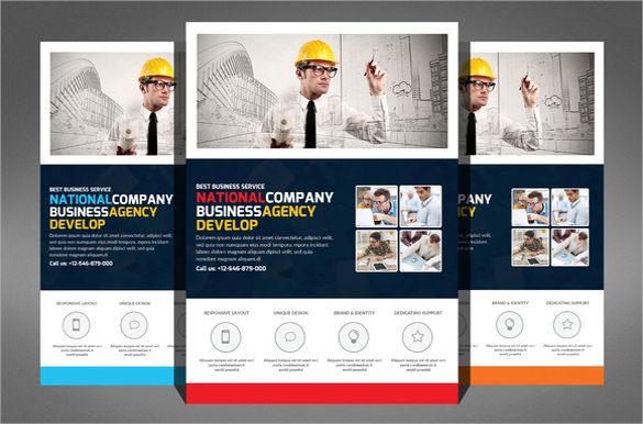 585x386 Construction Pany Flyer 24 Free Psd Ai Vector Eps Format One