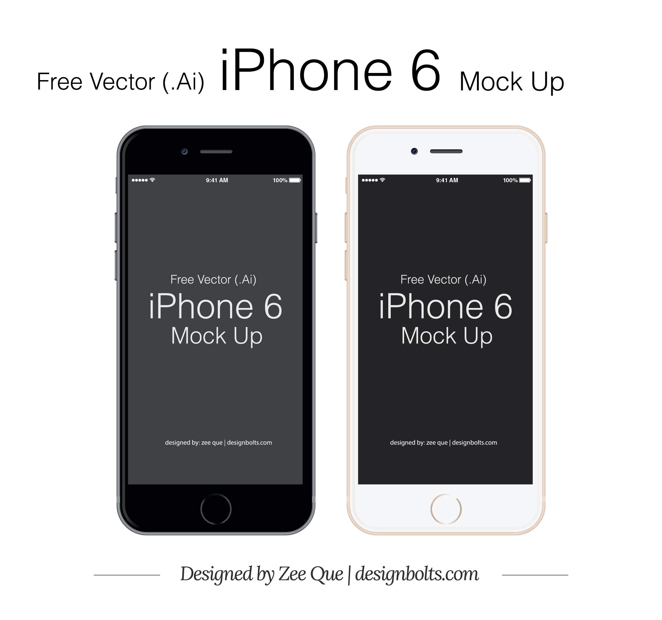 2133x1997 Free Vector Apple Iphone 6 Mockup In Ai Amp Eps Format