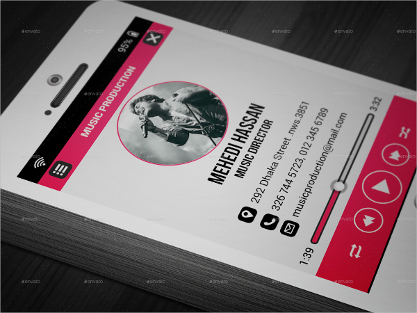 600x450 Music Business Card Template 21 Music Business Cards Free Psd Ai