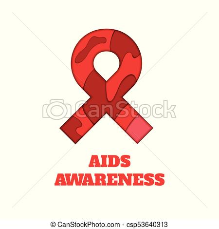 450x470 Aids Awareness Papercut Ribbon. Aids Awareness Poster. Red Ribbon
