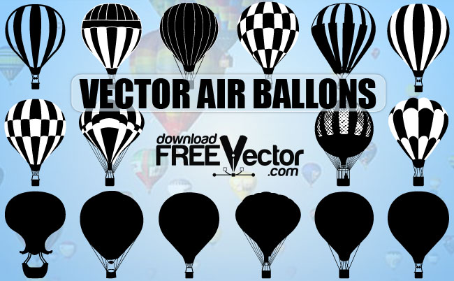 650x402 Air Balloons Free Vector 123freevectors