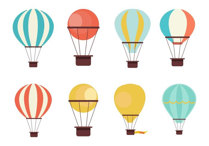 700x490 Free Hot Air Balloon Collection Vector
