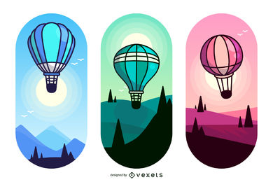 390x260 Hot Air Balloon Vector Graphics To Download