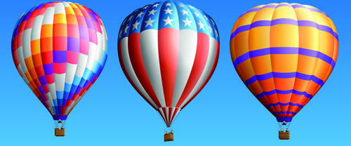 500x208 Hot Air Balloon Free Vector Download (2,364 Free Vector) For
