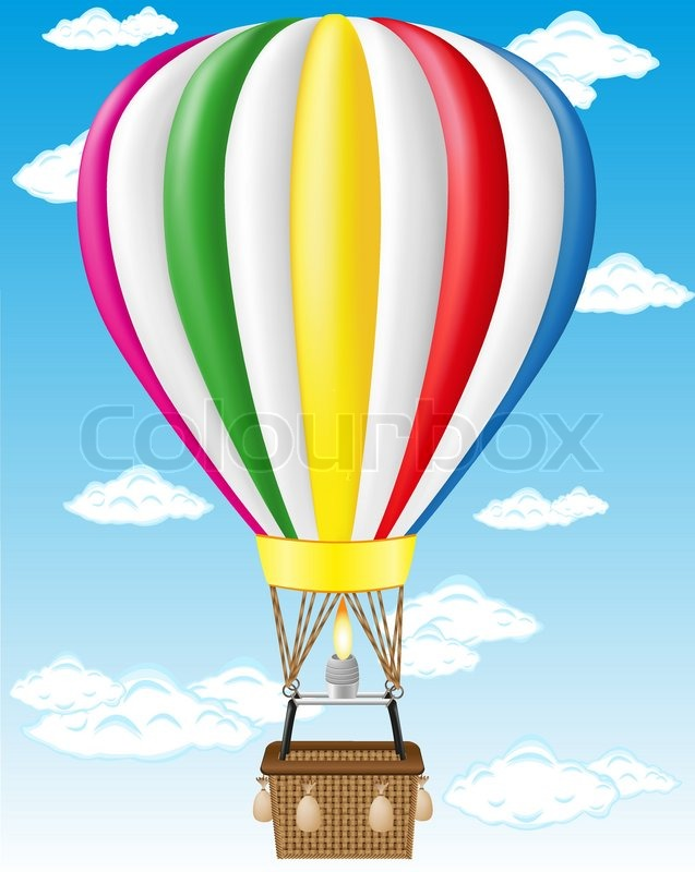 637x800 Hot Air Balloon Vector Illustration Stock Vector Colourbox