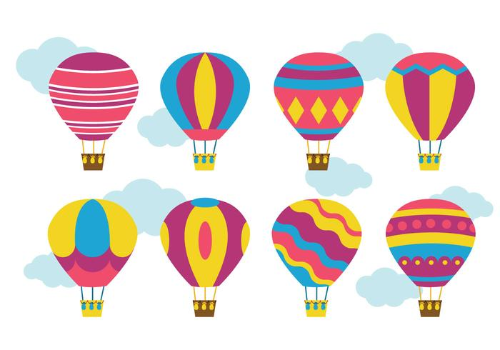 700x490 Sketch Hot Air Balloon Collection Vectors